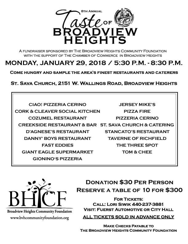 2018 Tast of Broadview Heights