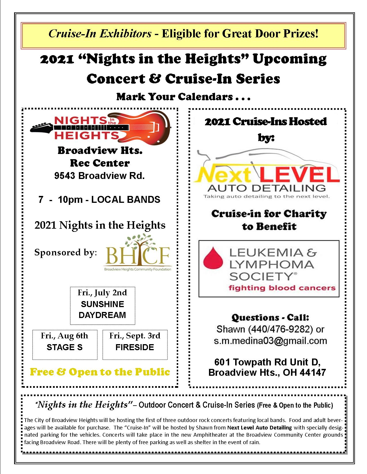 Cruise-In & Nights In The Heights